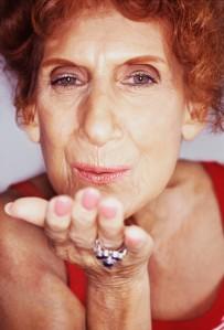 Senior Woman Blowing Kisses