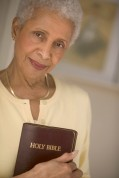 Senior Woman Holding Bible