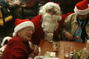 Santa Ed and Edna