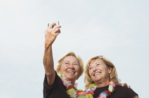 Women taking a picture of themselves